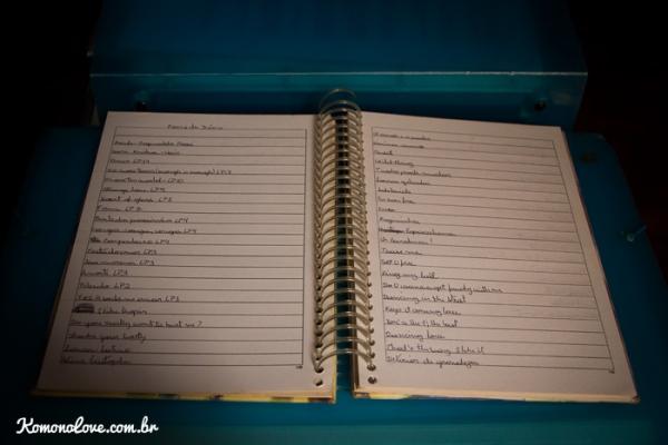Um caderninho de mixtapes